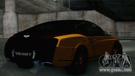 Bentley Continental GT Mansory for GTA San Andreas
