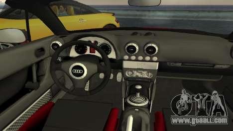 Audi TT Coupe BiMotor Black Revel for GTA Vice City inner view