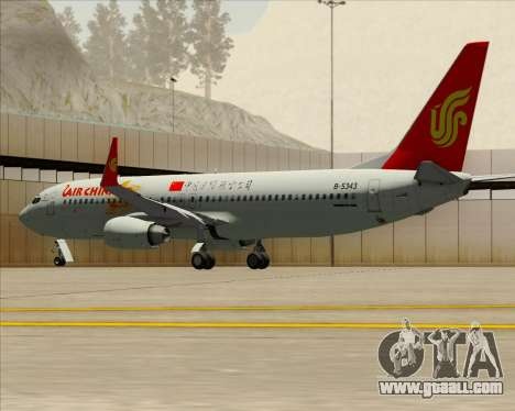 Boeing 737-89L Air China for GTA San Andreas engine
