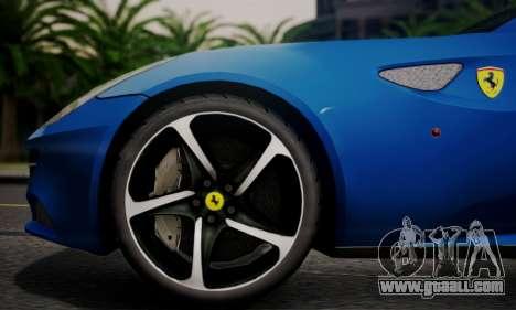 Ferrari FF 2012 for GTA San Andreas back view