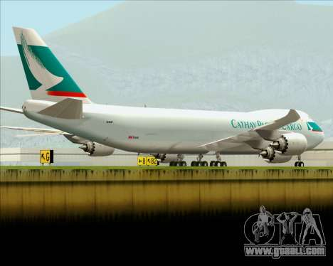 Boeing 747-8 Cargo Cathay Pacific Cargo for GTA San Andreas engine