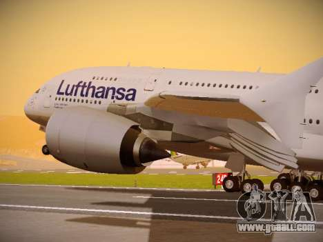 Airbus A380-800 Lufthansa for GTA San Andreas side view
