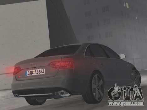 Audi S4 (B8) 2010 - Metallischen for GTA Vice City upper view