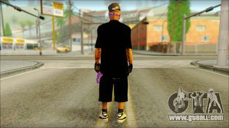East Side Ballas Skin 2 for GTA San Andreas second screenshot