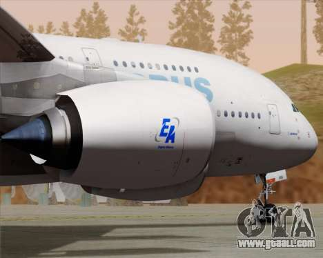 Airbus A380-861 for GTA San Andreas inner view