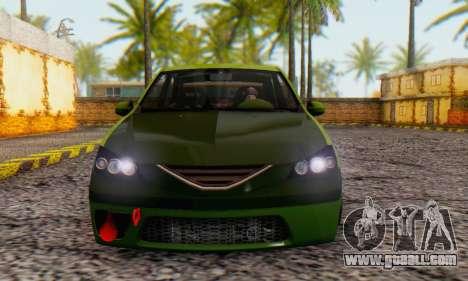 Dacia Logan MOR for GTA San Andreas back left view