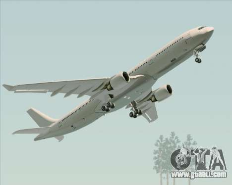 Airbus A330-300 Full White Livery for GTA San Andreas inner view