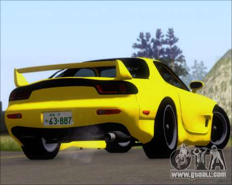 Mazda RX-7 FD3S A-Spec for GTA San Andreas upper view
