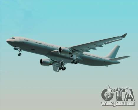 Airbus A330-300 Full White Livery for GTA San Andreas upper view
