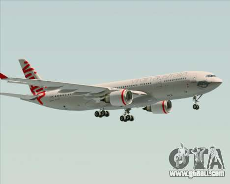 Airbus A330-200 Virgin Australia for GTA San Andreas bottom view