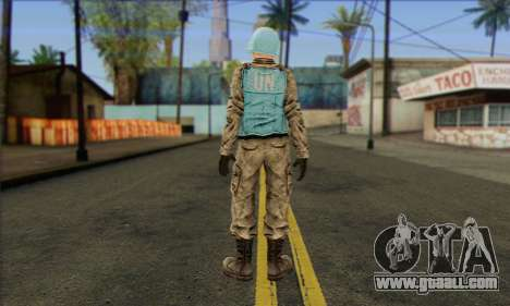 A U.N. peacekeeper (Postal 3) for GTA San Andreas second screenshot
