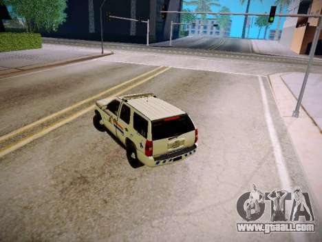 Chevrolet Tahoe 2007 RCMP for GTA San Andreas inner view