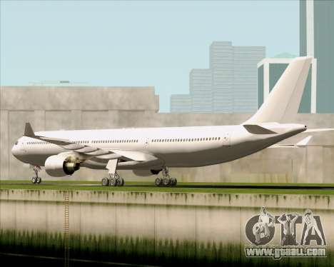 Airbus A330-300 Full White Livery for GTA San Andreas right view
