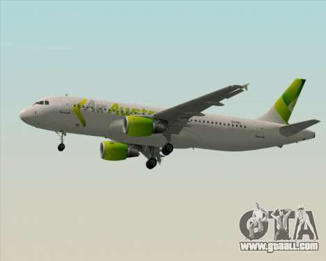 Airbus A320-200 Air Australia for GTA San Andreas bottom view
