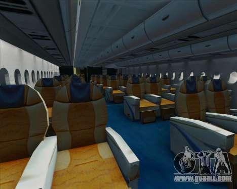 Airbus A380-861 for GTA San Andreas interior