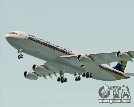 Airbus A340-313 Singapore Airlines for GTA San Andreas upper view