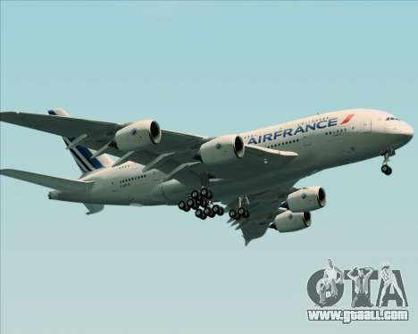 Airbus A380-861 Air France for GTA San Andreas side view