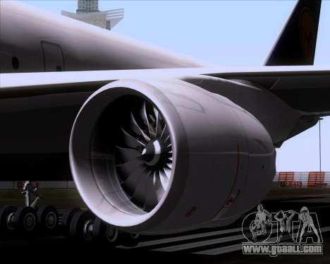 Boeing 747-830 Lufthansa - Fanhansa for GTA San Andreas bottom view