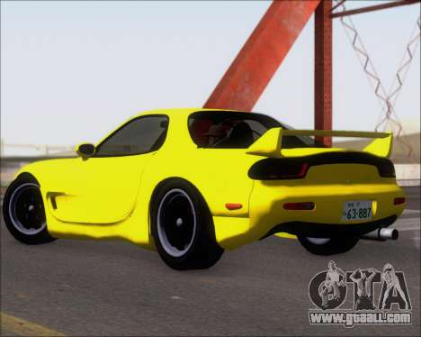 Mazda RX-7 FD3S A-Spec for GTA San Andreas back left view