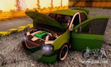 Dacia Logan MOR for GTA San Andreas side view