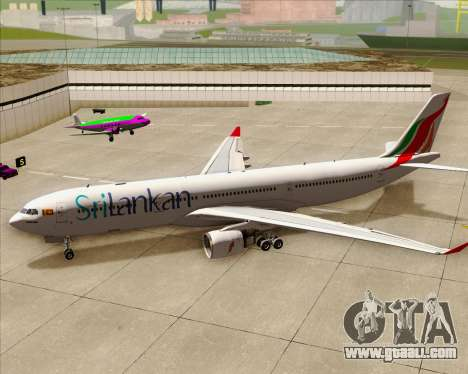 Airbus A330-300 SriLankan Airlines for GTA San Andreas upper view