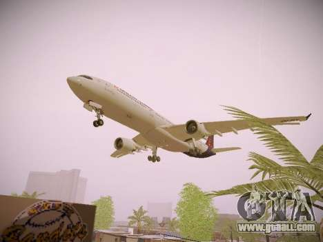 Airbus A330-300 Brussels Airlines for GTA San Andreas bottom view
