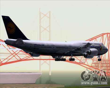 Boeing 747-830 Lufthansa - Fanhansa for GTA San Andreas back view