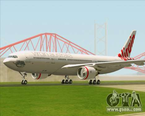 Airbus A330-200 Virgin Australia for GTA San Andreas back view