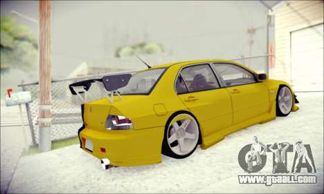Mitsubishi Lancer Turkis Drift for GTA San Andreas right view