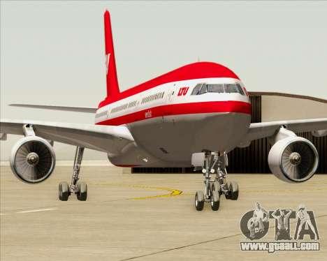 Airbus A330-300 LTU International for GTA San Andreas bottom view