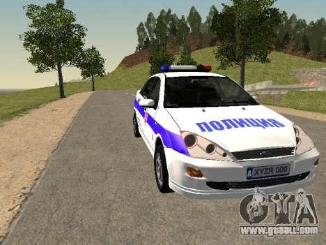 Ford Focus Police Nizhny Novgorod region for GTA San Andreas back view