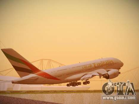 Airbus A380-800 Emirates for GTA San Andreas right view