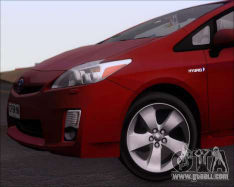 Toyota Prius for GTA San Andreas bottom view