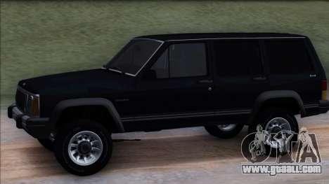 Jeep Cherokee for GTA San Andreas back view