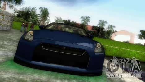 Nissan GT-R SpecV Black Revel for GTA Vice City left view
