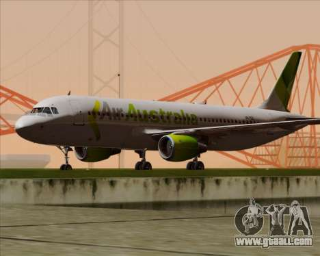 Airbus A320-200 Air Australia for GTA San Andreas back left view