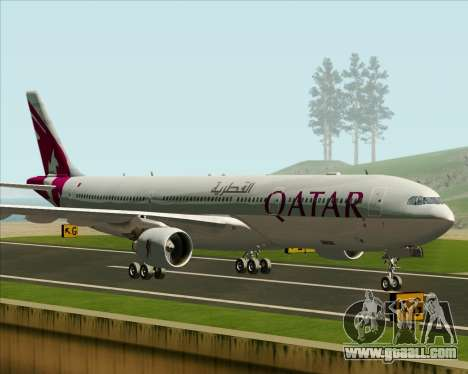 Airbus A330-300 Qatar Airways for GTA San Andreas left view