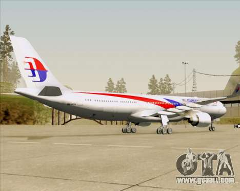 Airbus A330-323 Malaysia Airlines for GTA San Andreas back view