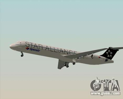 McDonnell Douglas MD-82 Spanair for GTA San Andreas side view