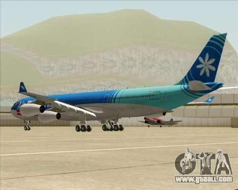 Airbus A340-313 Air Tahiti Nui for GTA San Andreas back left view