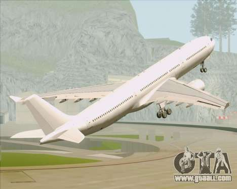 Airbus A330-300 Full White Livery for GTA San Andreas bottom view