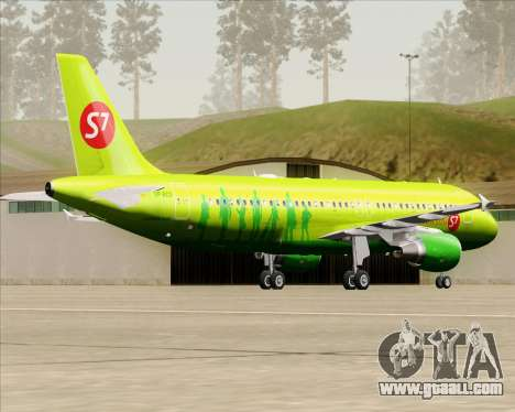 Airbus A320-214 S7-Siberia Airlines for GTA San Andreas right view