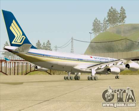 Airbus A340-313 Singapore Airlines for GTA San Andreas back view