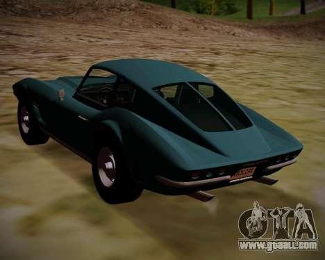 Coquette Classic GTA 5 DLC for GTA San Andreas left view