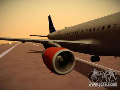 Airbus A319-132 Scandinavian Airlines for GTA San Andreas interior