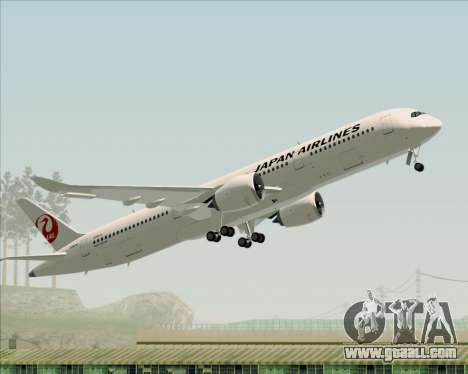 Airbus A350-941 Japan Airlines for GTA San Andreas bottom view