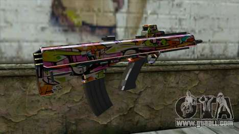 Graffiti Assault rifle for GTA San Andreas second screenshot