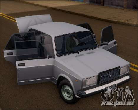 LADA 2107 for GTA San Andreas back view