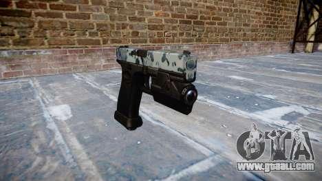 Pistol Glock 20 skulls for GTA 4