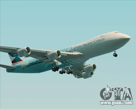 Boeing 747-8 Cargo Cathay Pacific Cargo for GTA San Andreas back left view